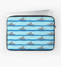 Royal Navy ships on the high seas. Laptop Sleeve