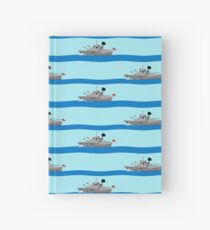 Royal Navy ships on the high seas. Hardcover Journal