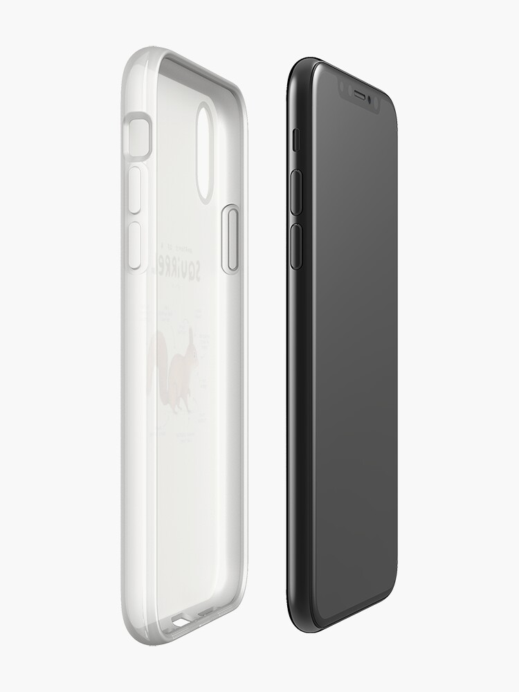 Vista alternativa de Funda y vinilo para iPhone Anatomía de una ardilla