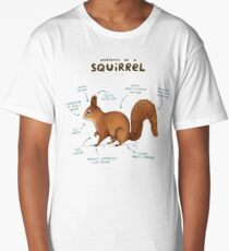 Anatomy of a Squirrel Long T-Shirt