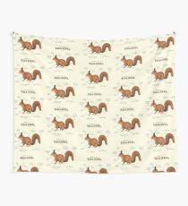 Anatomy of a Squirrel Wall Tapestry