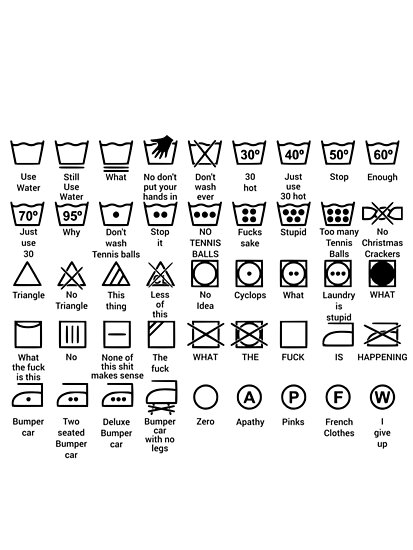 Laundry Instructions Posters By Musthaveitsfun Redbubble