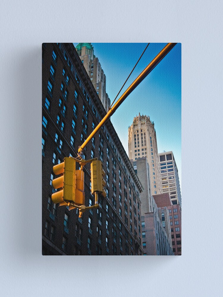 Alternate view of Lexington Avenue, the Waldorf Hotel Canvas Print