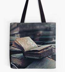 Antique Book. Wingspread Poetry Tote Bag