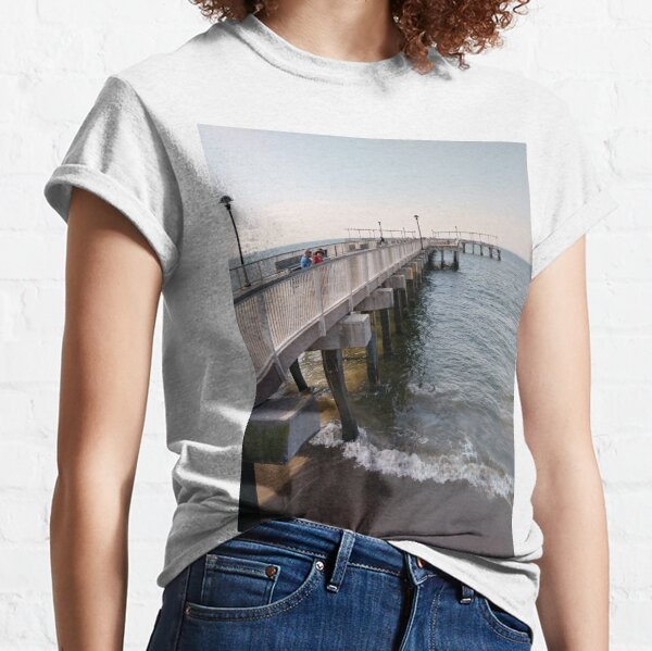 #NewYorkCity, #Brooklyn, #ConeyIsland, #ConeyIslandBeach, #water, #beach, #BeachSwimming  Classic T-Shirt