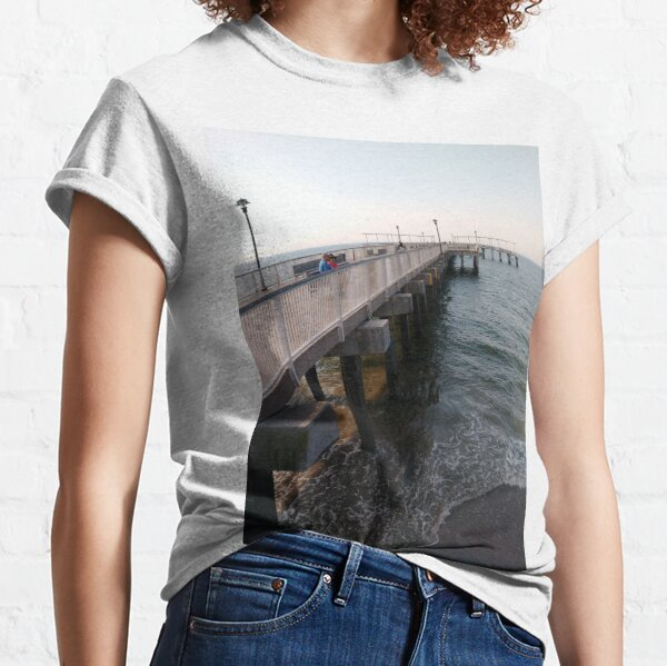NewYorkCity, #Brooklyn, #ConeyIsland, #ConeyIslandBeach, #water, #beach, #BeachSwimming, #pier Classic T-Shirt