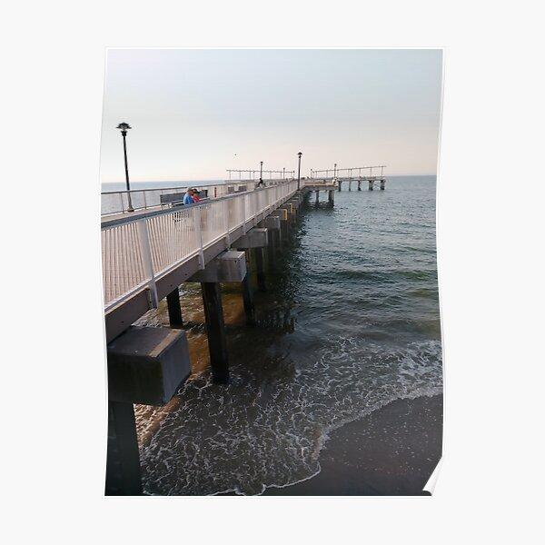 NewYorkCity, #Brooklyn, #ConeyIsland, #ConeyIslandBeach, #water, #beach, #BeachSwimming, #pier Poster
