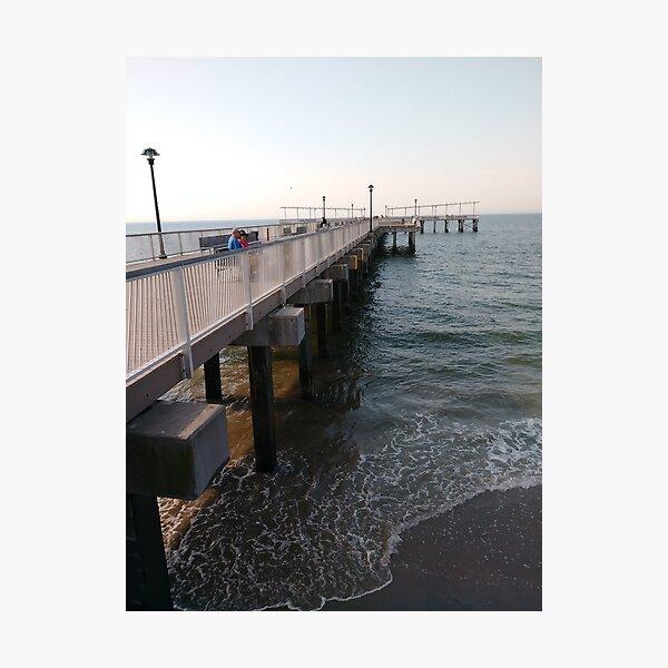 NewYorkCity, #Brooklyn, #ConeyIsland, #ConeyIslandBeach, #water, #beach, #BeachSwimming, #pier Photographic Print