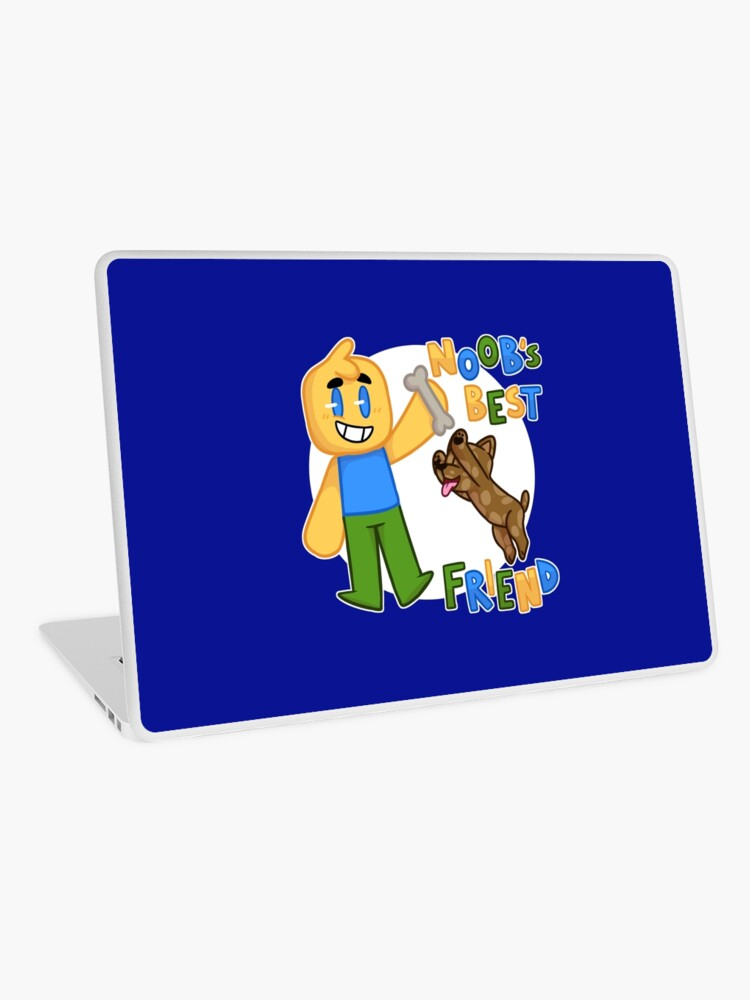 roblox noob skins de roblox Roblox Noob With Dog Roblox Inspired T Shirt Laptop Skin By Smoothnoob Redbubble