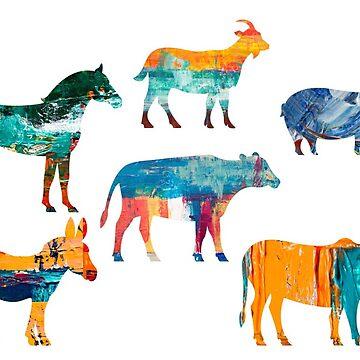 Colourful Animals by sunilbhar