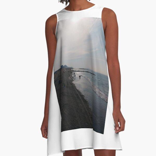 #NewYorkCity, #Brooklyn, #ConeyIsland, #ConeyIslandBeach, #water, #beach, #BeachSwimming, #pier A-Line Dress