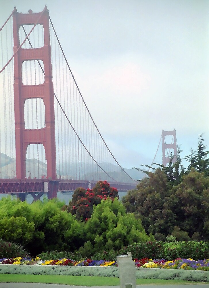Golden Gate Bridge (in color) by SteveOhlsen