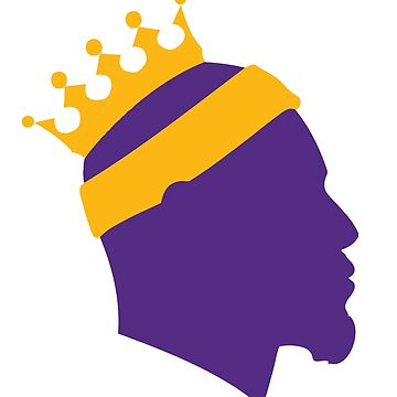 Lebron James Los Angeles LA-BRON Purple & Gold The King Crown  by WilsonReserve