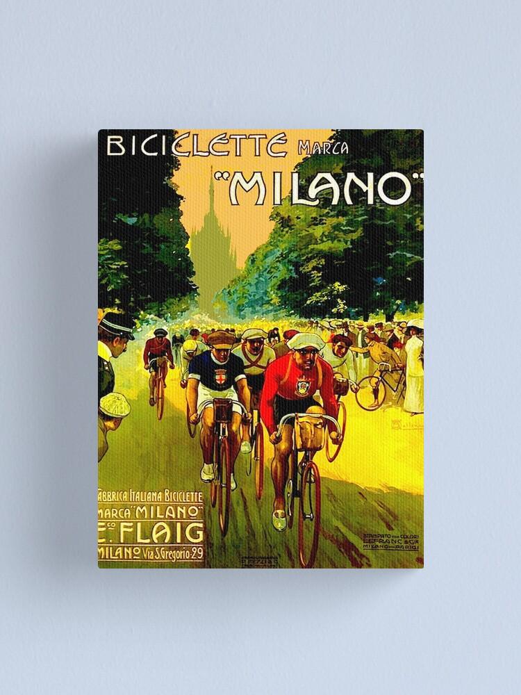 Vista alternativa de Lienzo MILANO VINTAGE; Impresión de publicidad de carreras de bicicletas