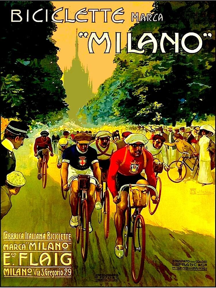 MILANO VINTAGE; Impresión de publicidad de carreras de bicicletas de posterbobs