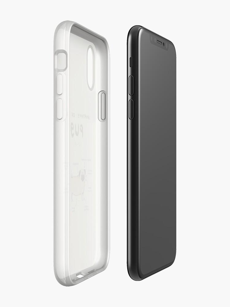 Alternative Ansicht von Anatomie eines Mops iPhone-Hülle & Cover