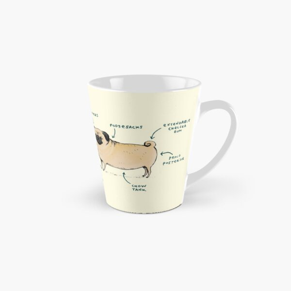 Anatomie d'un carlin Mug long