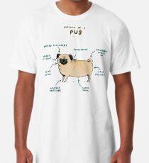 Anatomy of a Pug Long T-Shirt