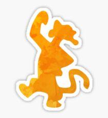 Tiger Inspired Silhouette Sticker
