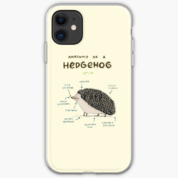 Woodland Hedgehogs - a pattern in soft neutrals iPhone 11 case