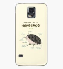 Anatomie eines Igels Hülle & Klebefolie für Samsung Galaxy