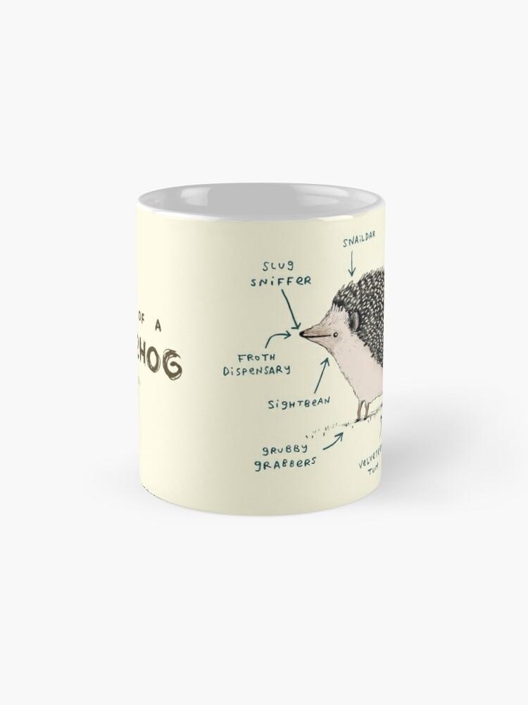 Alternative Ansicht von Anatomie eines Igels Tasse