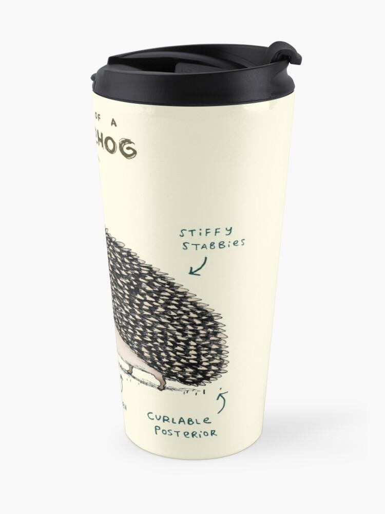 Alternate view of Anatomy of a Hedgehog Travel Mug