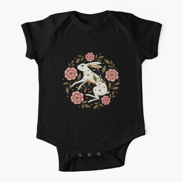 Entangled Short Sleeve Baby One-Piece