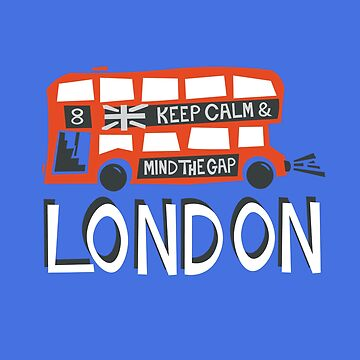 London Red Doubledecker Bus Travel and Tourist by designkitsch