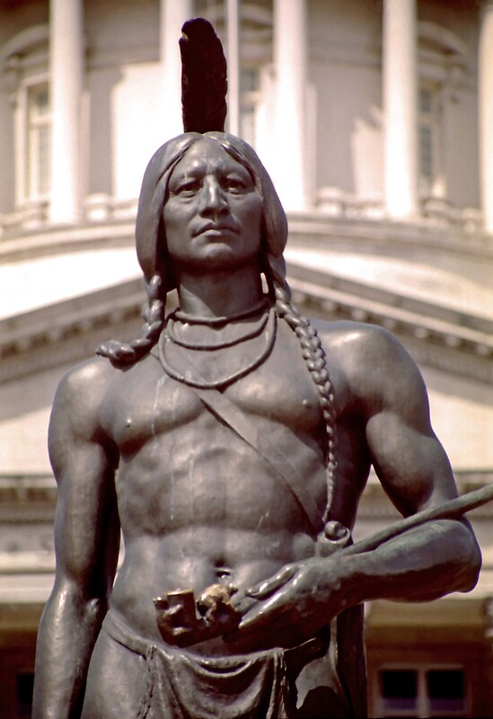 Quot Bronze Indian Statue Utah State Capitol Quot By Steveohlsen
