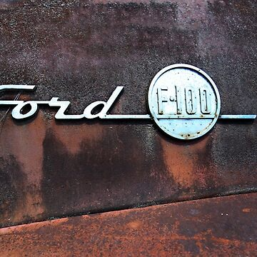 Rusty Ford Emblem by mal-photography