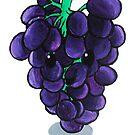 Food Pun - I'm So Grapeful by artsbycheri