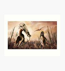 Hatzegopteryx und Zalmoxen Kunstdruck