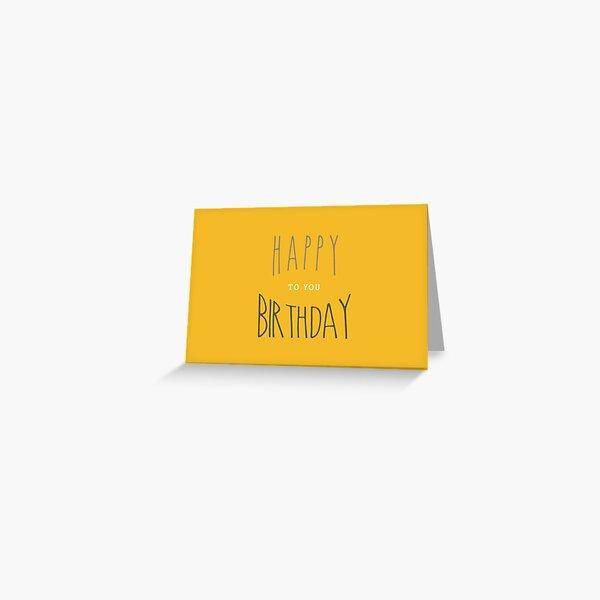 Happy Birthday : Typography Greeting Card