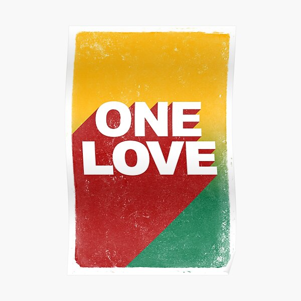 poster quote reggae rasta one love Poster