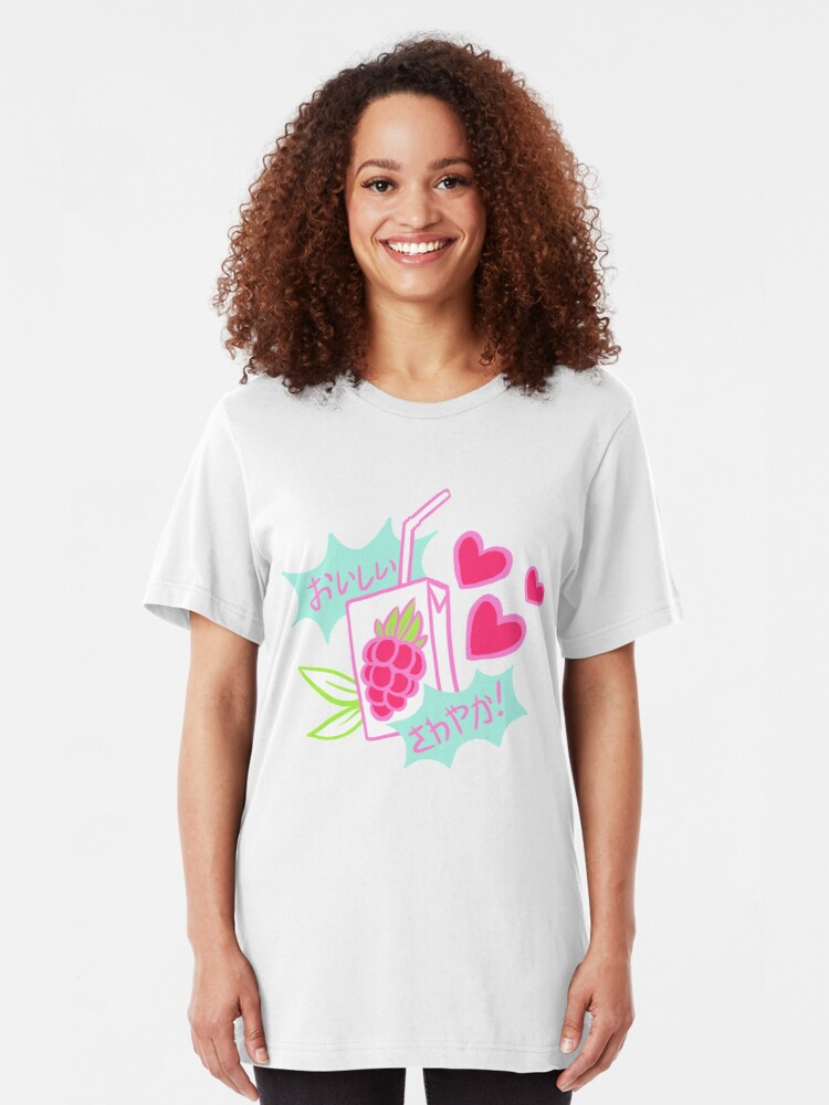 Alternate view of Delicious, Refreshing! Razz Berry Juice Slim Fit T-Shirt