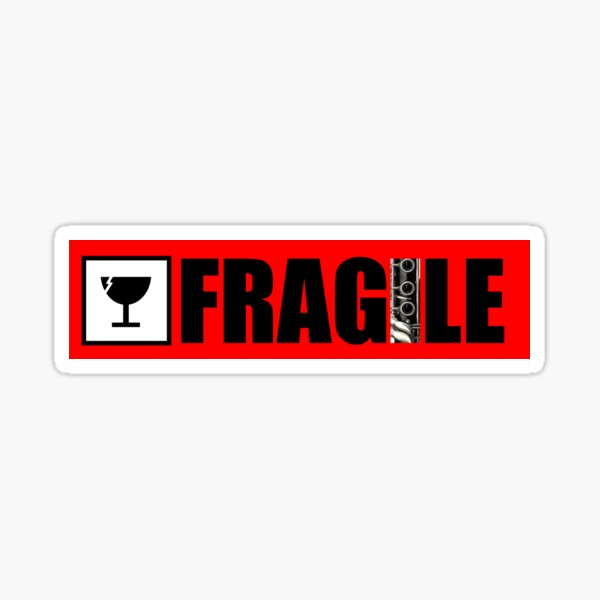 Fragile sticker - Clarinet Instrument case Sticker