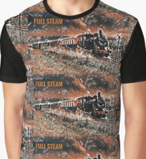 Full Steam - The Vintage Train Graphic T-Shirt