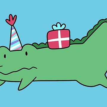 Birthday Alligator  by SaradaBoru