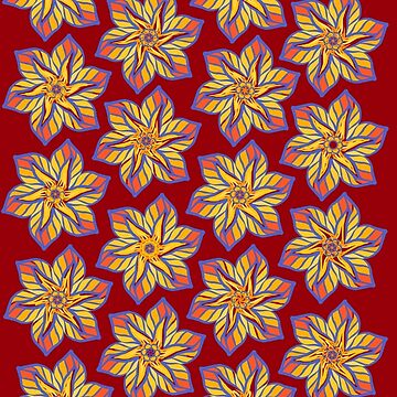 Colourful flower prints by Christidesigns