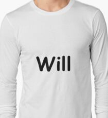 Font Name Will Long Sleeve T-Shirt