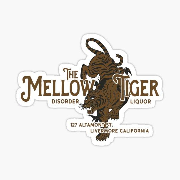 The Mellow Tiger Bar Sticker
