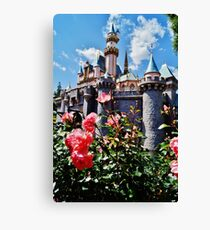 Castle Roses Canvas Print