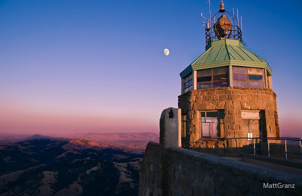 Mt. Diablo Lookout Tower at Twilight by MattGranz