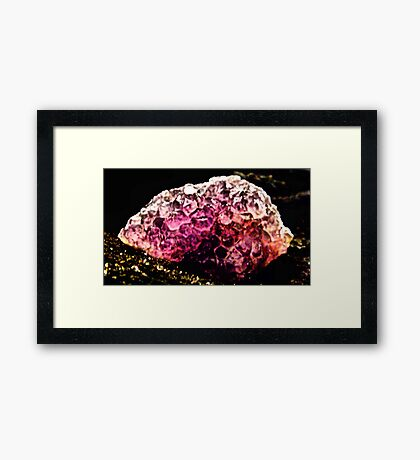 Glowing Ametrine  Framed Print