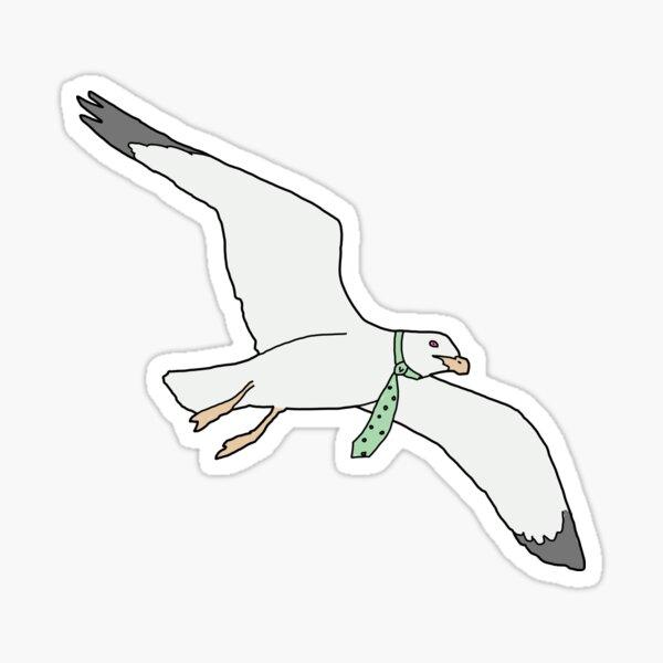 Tie Seagull Sticker
