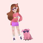 Cool Mabel and Waddles  by Minette Wasserman