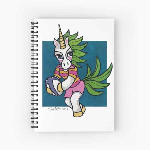 Rugby Unicorn - Passing - Animals of Inspiration Spiral Notebook