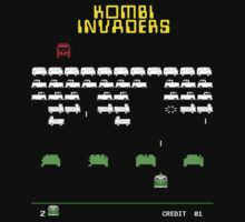 Volkswagen Kombi Tee Shirt - Kombi Invaders