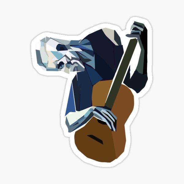 Pablo Picasso Old Guitarist 1903 Shirt Artwork Reproduction Sticker